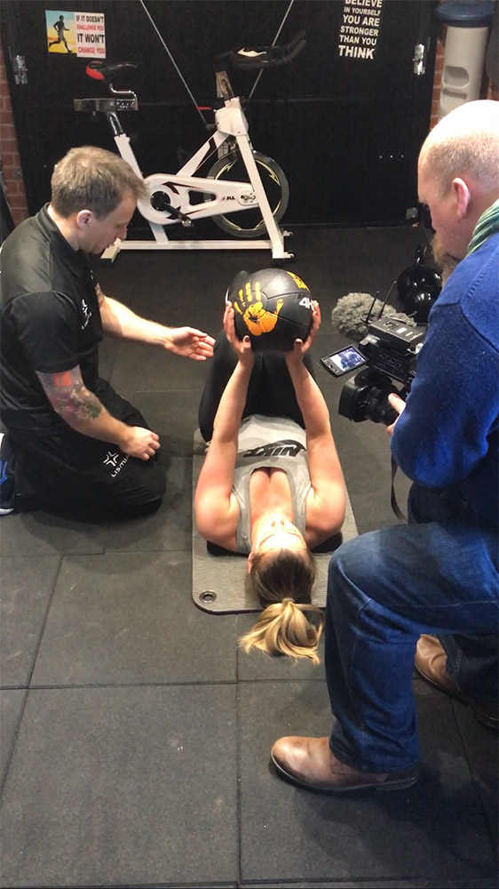 Marathon training using medicine ball